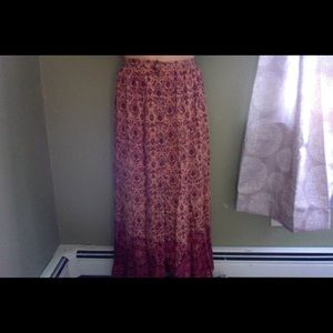 Patterned Button Skirt